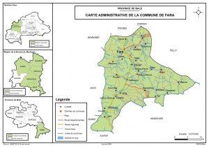 situation geographique de la commune de fara